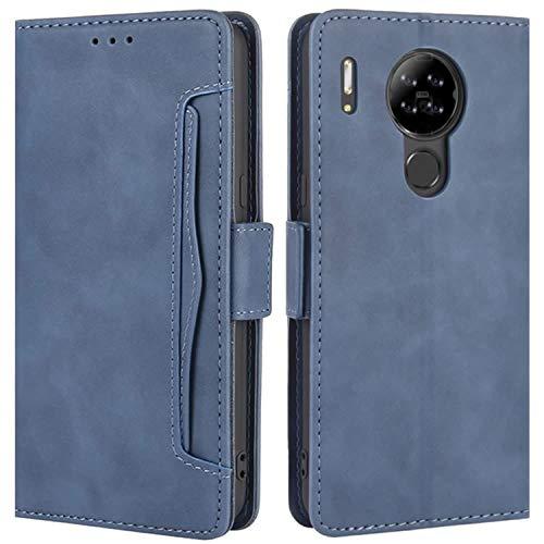 HualuBro Handyhülle für Blackview A80 Hülle Leder, Flip Case Cover Stoßfest Klapphülle Handytasche Schutzhülle für Blackview A80 2020 Tasche (Blau)