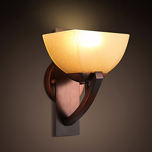 JJZHG Wandlamp, waterdichte wandverlichting, creatieve retro staande tafellamp, woonkamer, gang, eenpersoons, wandlamp omvat: wandlamp, stoere wandlampen