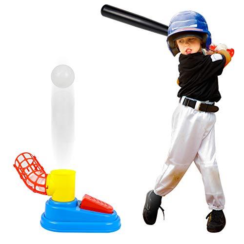 Juegos Exterior Niños Juguetes de Béisbol Niños Juego de Lanzador de Béisbol Automático Juegos Jardin al Aire Libre para Niños Juegos Educativos Juguetes Regalos para Niños Niñas 3 4 5 6 Años