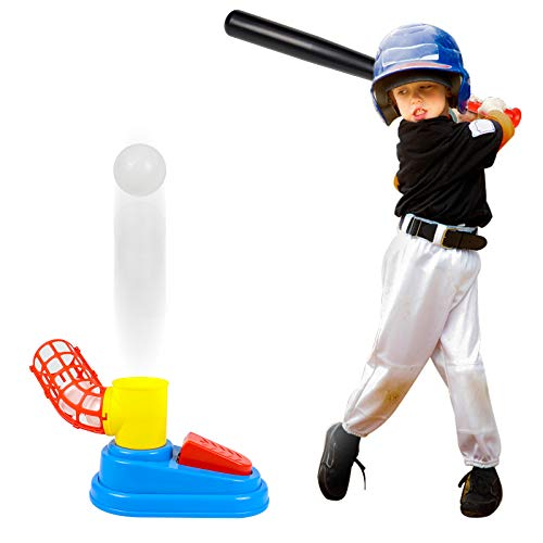 Juegos Aire Libre Juguetes Para Niños Juguete de Béisbol Juego de Lanzador de Béisbol Automático Juguete Educativo 3+ Años Regalos de Para Niños Niñas 3 4 5 Años