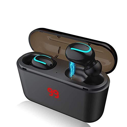 Casque d'écoute Bluetooth TWS Puissance Affichage Tactile 5,0 à Deux Oreilles Mouvement dans l'oreille Bande Compartiment de Charge 2-Ampoule (Couleur: Q82Bulb), Nom Couleur: Q82Type