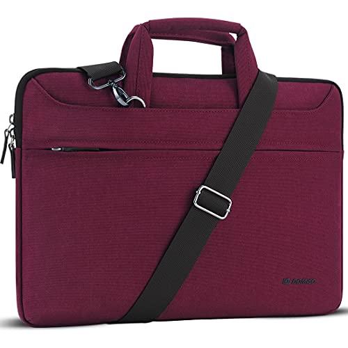 DOMISO 13.3 Zoll Wasserdicht Laptop Tasche Aktentasche Schultertasche Notebooktasche für 13
