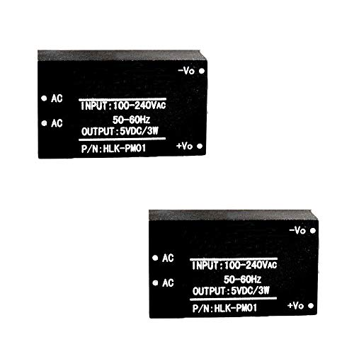 Comidox 2PCS HLK-PM01 Smart Household Switch AC-DC Isolated Power Module 220V to 5V Step-Down Power Supply Module