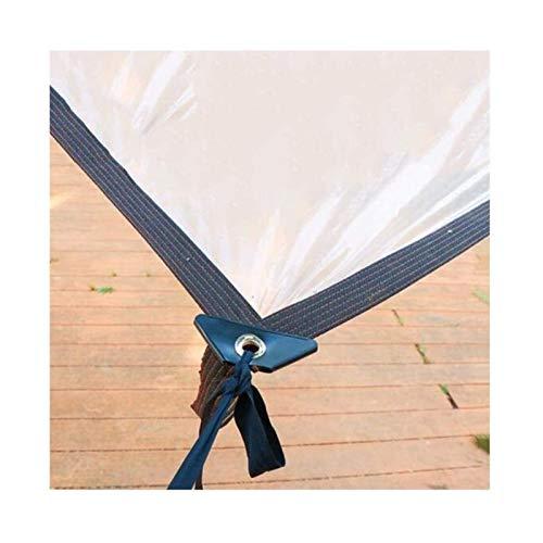 ETNLT-FCZ Toldo Clear Tarpaulin Tarp Patio de tejado Impermeable Lonas con Ojales - Lona Piso-Hoja Transparente Cubierta for Succulents/Veranda/Camping, Light 120 G/M² (Color : Clear, Size : 2X3M)
