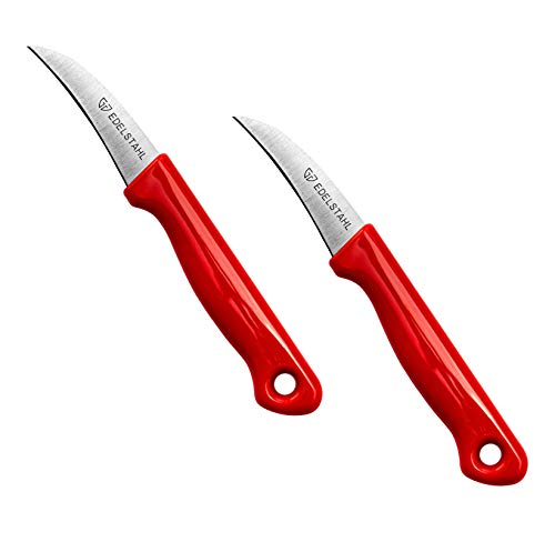 Helmecke & Hoffmann 2er-Set Küchenmesser | Schälmesser aus Edelstahl | Gemüsemesser mit ergonomischem Griff