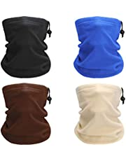 YESURPRISE 4 Packs Polar Fleece Neck Gaiters for Autumn/Winter,Unisex Design Warmer Head Scarf Wrap Windproof Ski Face Mask,Bicycle Balaclavas Outdoors for Skiing Hiking Cycling Motorcycle Climbing