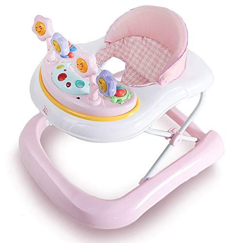 MGLQSB Baby Girello Safety Girello per Bambini Girello Bamnino Fascia d\'età: da 6 a 18 Mesi,Pink