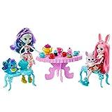 Enchantimals Coffret le goûter enchanté, mini-poupées Patter Paon et Bree Lapin et leurs figurines animales, accessoires inclus, jouet enfant, GLD41