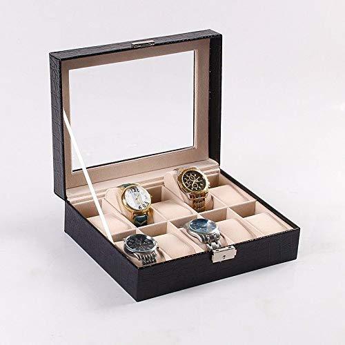Nelson Jewellery Box, Jewellery Storage Organizer Ohrringe Fall für Travel Home Portable Storage 10-stellige Uhr Aufbewahrungsbox