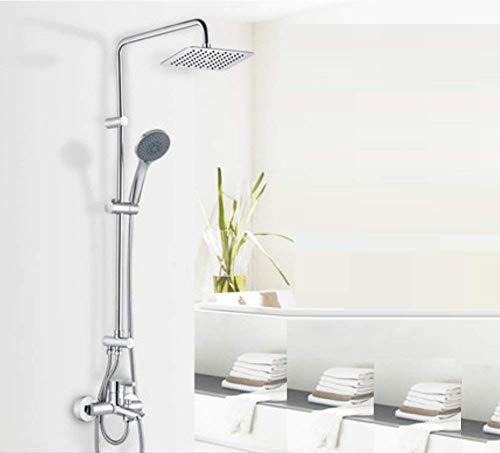 Buy YUBAGSL Guhaibo Continental Vintage High-End Bathroom Stainless Steel Square Handheld Shower Top...