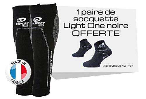 BV Sport Booster Elite Noir + Paire DE SOQUETTES LIGHTONE Offerte Compression Progressive