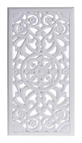 Meinposten. Wandornament Holz weiß 60 x 30 cm Shabby Landhaus Ornament Holzornament Holzbild