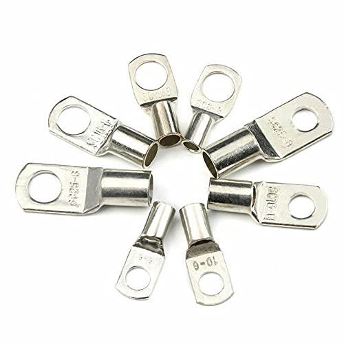 Terminales De Cobre EstañAdo 100 PCS Surtido Tinned Cobre Lugs Anillo Terminales de Crimpinales Batería Cable de soldadura Conectores Kit (Color : SC16-8, Pins : 100)