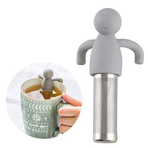 Tea Infuser for Loose Tea Cute Tea Strainer Ultra Fine Mesh Stainless Steel Leaf Tea Ball Strainer Infuser Grey