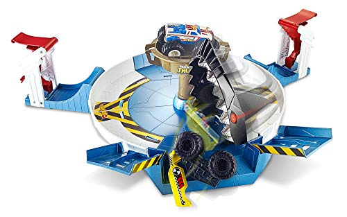 Hot Wheels - Monster Trucks, Mecha Shark Face-Off, accesorios para coches de juguete (Mattel FYK14)