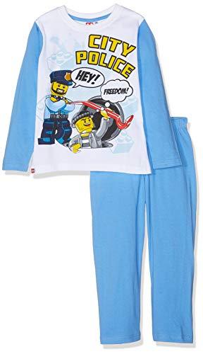 LEGO Jungen 2175 Zweiteiliger Schlafanzug, Blau, 128