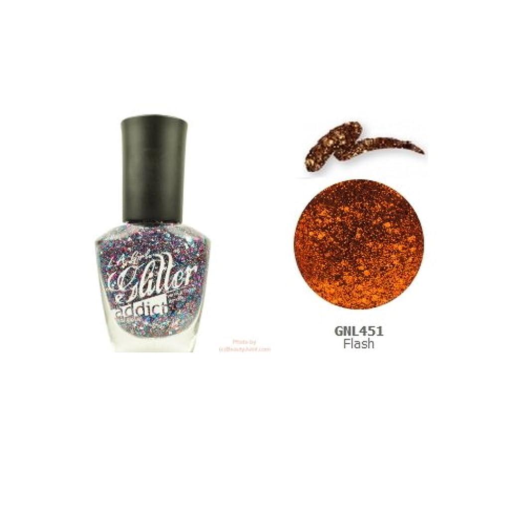 フラップ肉腫矛盾する(3 Pack) LA GIRL Glitter Addict Polish - Flash (並行輸入品)