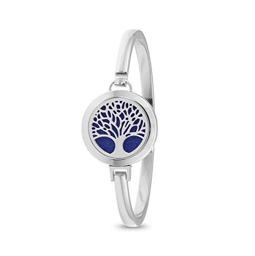 Tree of Life Diffuser Bracelet (Silver)