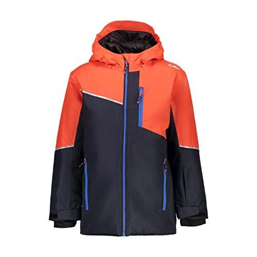 CMP Jungen Skijacke 39W1884 Jacke, Black Blue, 140
