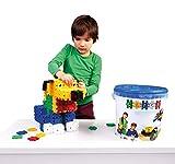 Clics Konstruktionsspielzeug für Kinder ab 3 Jahre, kreatives Lernspielzeug im 275 Teile Set, Bausteine für Mädchen und Jungen, Montessori STEM-Spielzeug, Eimer 10 in 1,