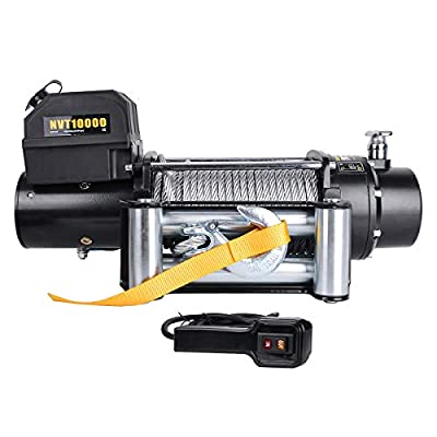 Waterproof 10000Ibs 12V Electric Winch with Safer Cored Remote and 85.3FT Galvanized Steel Rope Recovery, YITAMOTOR 3 Stage Planetary Winch Perfect for Trucks ATV Jeep ect
