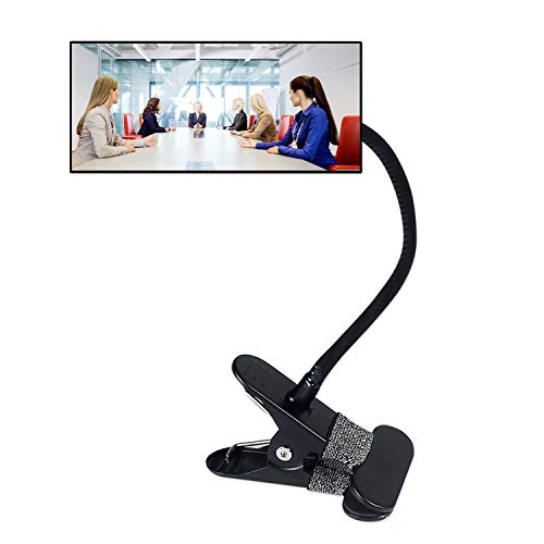 "Clip On Security Mirror, Computer Rearview HD Mirror, Convex Cubicle Mirror for Personal Safety and Security Desk Rear View Monitors or Anywhere (6.69"" x 2.95"" Rectangle)"