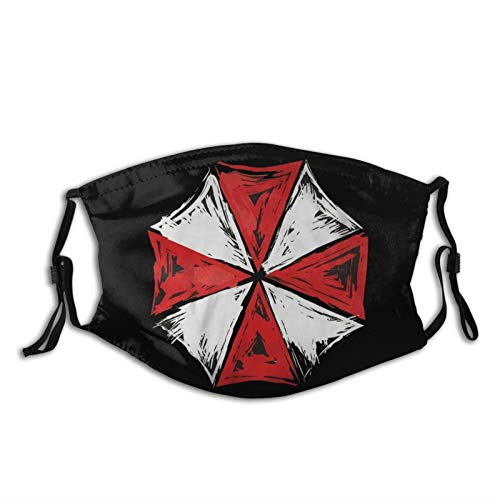 Resident Umbrella Evil Corp Symbol Unisex Breathable Comfortable Dustproof Filter Face Mask Black