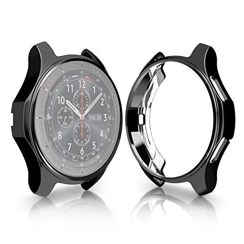 JIANGHONGYAN Reloj Inteligente Compatible con Estuche Protector Carcasa a Prueba de Golpes chapada en TPU para Samsung Gear S3 Frontier Smartwatch de 46 mm