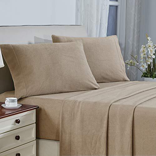 Plush Micro Fleece Bed Sheet Set, Extra Warm Polar...