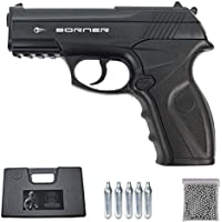 Borner C11   Pack Pistola de balines (perdigones Bolas de Acero BB's). Arma de Aire comprimido CO2 Calibre 4,5mm [3 Julios]
