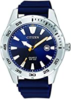 CITIZEN Mens Quartz Watch, Analog Display and PU Strap - BI1041-22L