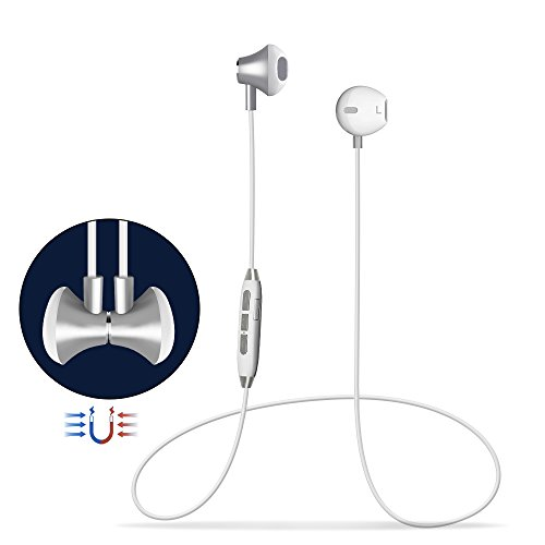 Cuffie Bluetooth Magnetici Sport,Headset Auricolari Bluetooth 4.1 Stereo HiFi con Microfono,Noise Cancelling Avanzate,Paio 2 Dispositivi, per iPhone Samsung LG Xiaomi Huawei