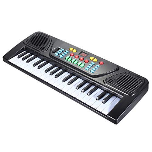 YUY Elektronische Orgel, Tragbare Elektronische Orgel Digital Schwarz Weiß Musikinstrument Aufklärung...