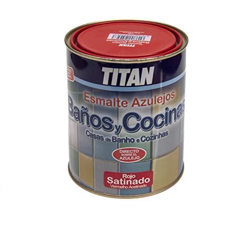 Titan M112277 - Esmalte azulejos baño-cocina rojo 750 ml