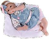 CYFCXK 22 Pulgadas Renacimiento muñeca simulación Linda bebé muñeca Caucho Suave niño bebé Juguete