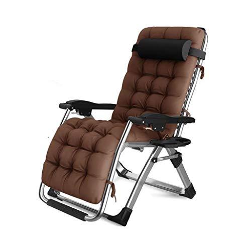 El sillón reclinable Plegable al Aire Libre,el sofá reclinable con Respaldo ensanchado Ajustable con Gravedad Cero con portavasos se Puede Usar para la terraza de la Playa el jardín Camping Piscina