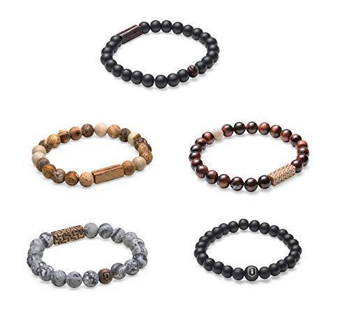 BeWooden | Perlenarmband UNISEX | VERSCHIEDENE FARBEN | Einzigartiges Design | Hergestellt im Herzen Europas | Armband Armreif | Handgefertigt