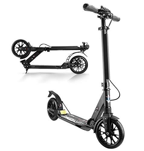 Scooter Plegable para Adultos Aleación De Aluminio Ligero 2 Ruedas Scooter para Niños Manillar Ajustable con Freno De Mano De Disco para Adultos Adolescentes Mayores De 12 Años