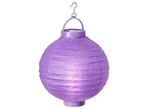 Alsino LED Papier Lampion Papierlaterne Laterne 20 cm Gartendeko Dekoration, Variante wählen:L-06 lila