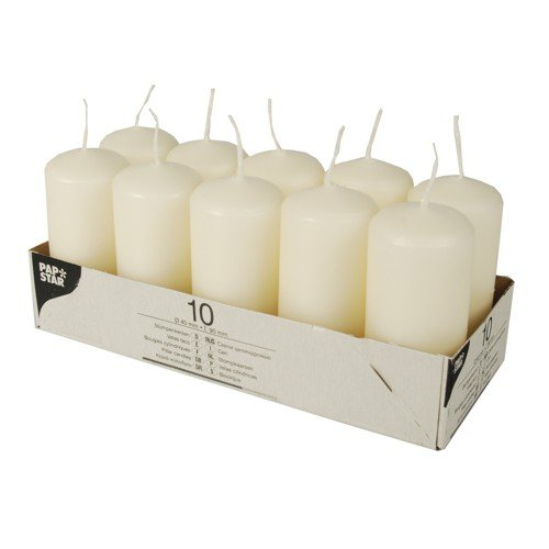 Papstar 17912 - Pack de 10 velas, 90/40 mm