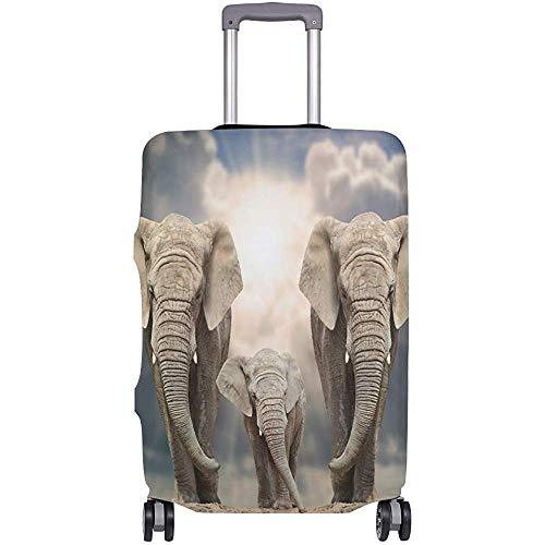 Gepäckraumabdeckung Elephant Family Suitcase Protector Reisegepäck Größe S