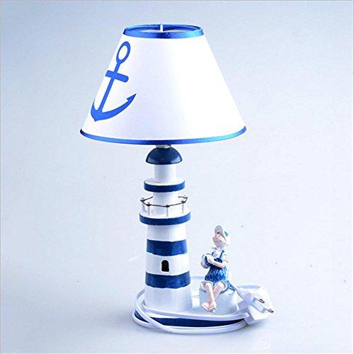YMXJB Kreative Die Mittelmeer-Tischleuchte Schlafzimmer Arbeitszimmer Büro Leuchtturm Tischlampe, 220V-240V