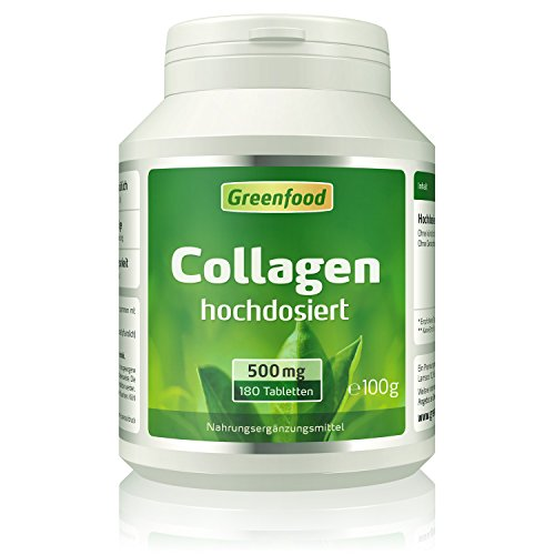 Collagen, 500 mg, hochdosiert, 180 Tabletten –...