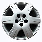 Genuine OEM Hubcap | Fits 2005-2008 Toyota Corolla | Professionally Reconditioned Like-New | 15-inch Factory Replacement Wheel Cover | 61133