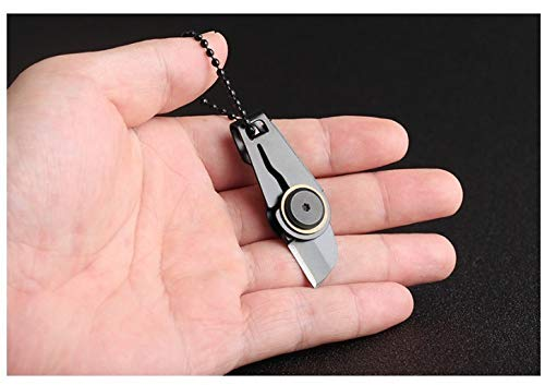 Grandey Mini Zipper Knife Portable Outdoor Survival Emergency Tool Foldable Stainless Steel EDC Key Ring
