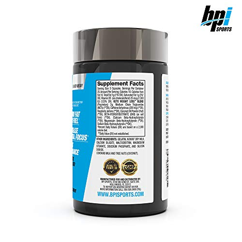 BPI Sports Keto Weight Loss - Ketogenic Fat Burner - Keto Weight Loss Pills - Raspberry ketones - Supports Mental Focus - Promotes Endurance - Burn Fat for Fuel - 75 Capsules 3
