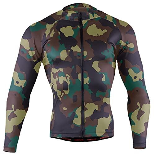 Magnesis Militar camuflaje patrón de estampado (29) hombres Ciclismo Jersey manga larga bicicleta chaqueta ciclismo bicicleta Jersey camisa