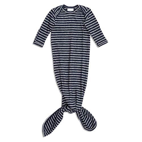 aden + anais snuggle gebreide geknoopte jurk heide Marineblauwe streep
