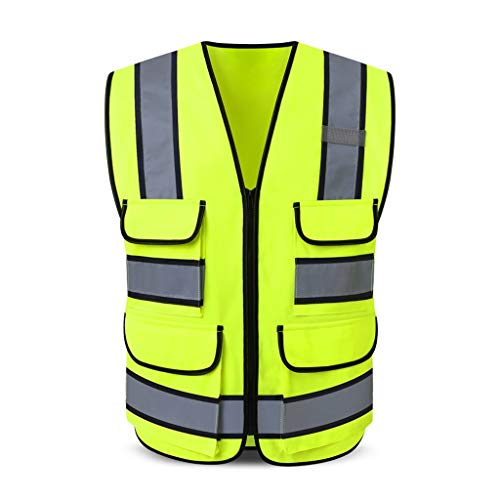 Safety Vests DBL Chaleco reflectante de seguridad Multibolsillo Ropa de trabajo Alta visibilidad Chaleco Viajar por la noche Seguridad Unisex chalecos de seguridad