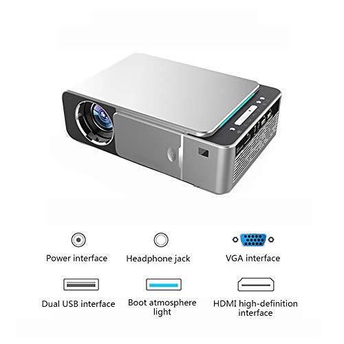 LHR Mini Proyector, Altavoz Incorporado Proyector De Corrección De Escalera De Proyección De Enfoque Corto Múltiples Interfaces Cine En Casa
